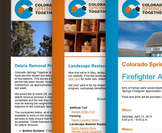 Colorado Springs Together eblasts